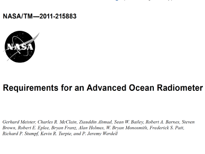 Requirements for an Advanced Ocean Radiometer