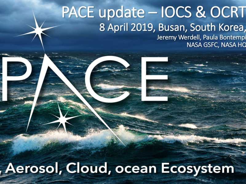 2019 NASA Ocean Color Research Team & International Ocean Colour Science Meetings