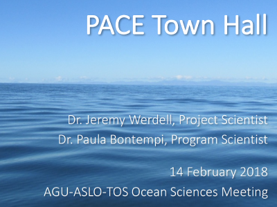 PACE Town Hall at AGU-ASLO-TOS Ocean Sciences Meeting