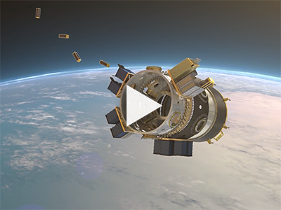 This animation shows how the SSO-A Smallsat Express will deploy a record-breaking 64 satellites.