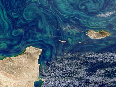 Aqua satellite image of Gulf of Aden