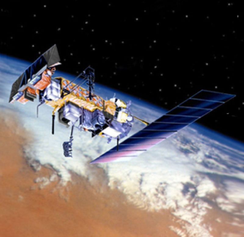 An example polar-orbiting satellite with AVHRR.