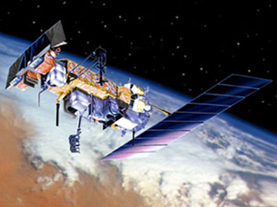 An example polar-orbiting satellite with AVHRR. Credit: NASA