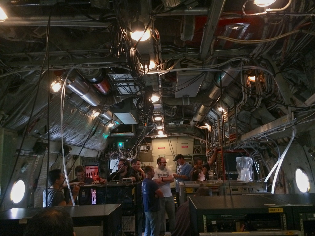 Preparing C-130 to rendezvous with R/V <em>Atlantis</em> during NAAMES campaign.