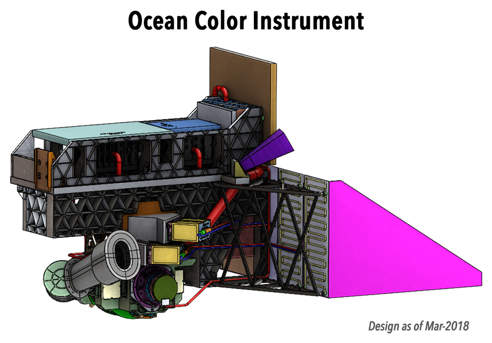 The Ocean Color Instrument (OCI) is a highly advanced optical spectrometer and the primary sensor on PACE.