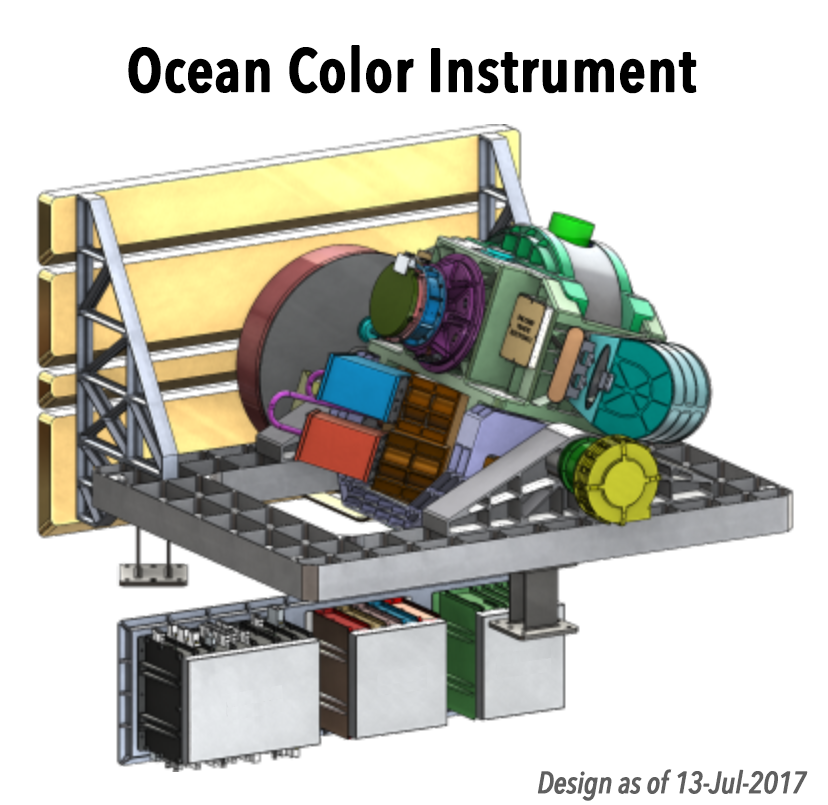 Illustration of the PACE ocean color instrument