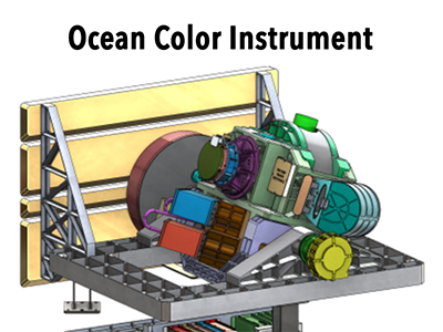 An illustration of the Ocean Color Instrument (OCI). Credit: NASA/PACE
