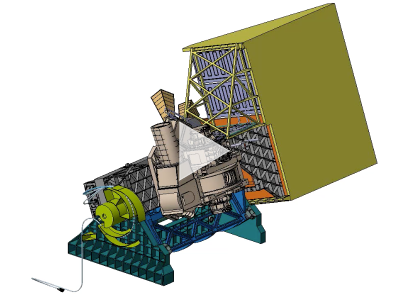 Computer rendering of the OCI in operation. The OCI tilt will help avoid sun glint.