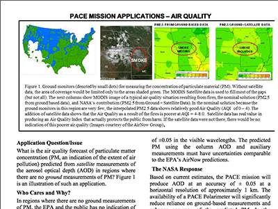 PACE Applications White Paper: Air Quality