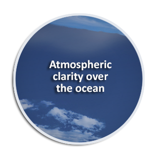 Atmospheric clarity over the ocean