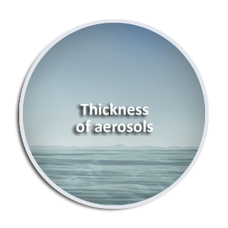 Thickness of aerosols