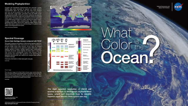 Brochure cover: What Color is the Ocean?