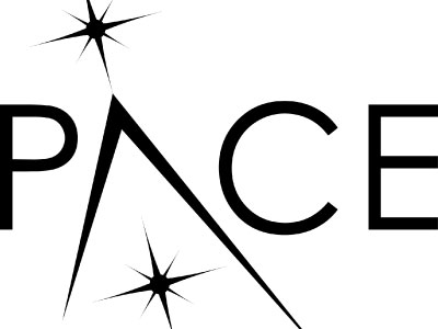 Logo for the PACE mission, which will study Earth's ocean ecosystems and their relationship to airborne particles and clouds. Credit: NASA