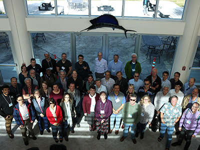 Members of the PACE Science Team pose for a photo at the 2018 Science Team Meeting, held at the Harbor Branch Oceanographic Institute in Fort Pierce, FL. Credit: PACE