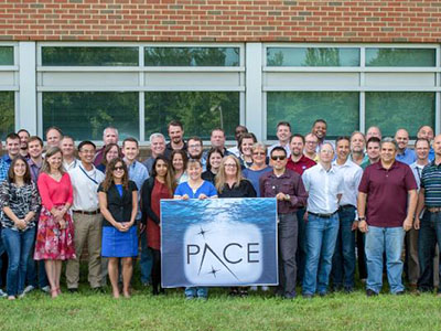 The PACE team at Goddard Space Flight Center - developing new ways to study life in the ocean. Credit: NASA