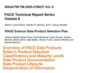 PACE Science Data Product Selection Plan