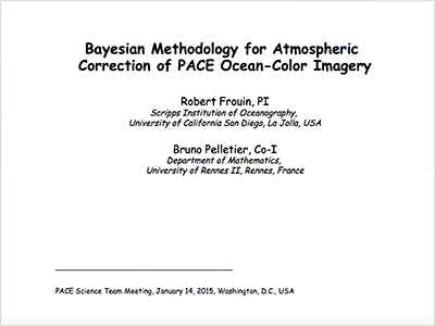 Bayesian Methodology for Atmospheric Correction of PACE Ocean Color