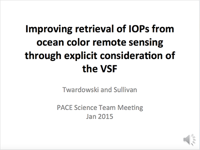 Improving Retrieval of IOPs from Ocean Color Remote Sensing Through Explicit Consideration of the VSF