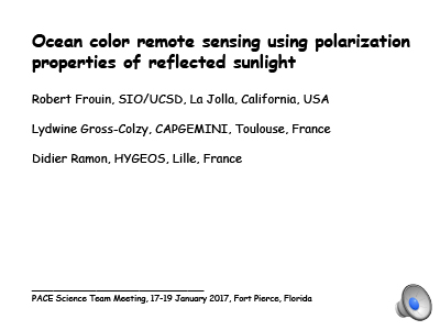 Ocean Color Remote Sensing Using Polarization Properties of Reflected Sunlight
