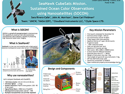 SeaHawk CubeSats Mission: Sustained Ocean Color Observations using Nanosatellites (SOCON)