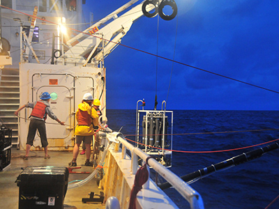 A CTD Rosette is Retrieved