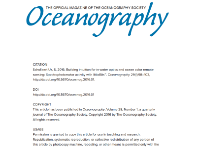 In-Water Optics & Ocean Color Remote Sensing Activity
