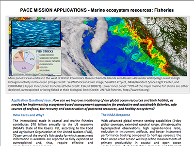 PACE Applications White Paper: Marine Ecosystem Resources: Fisheries