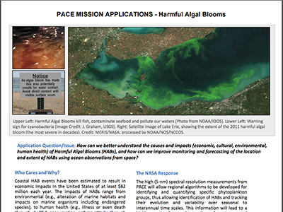 PACE Applications White Paper: Harmful Algal Blooms