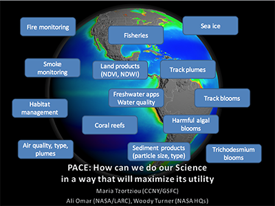 Maximizing the Societal Benefits of PACE IOP Data by Actively Linking the Mission to its Applications