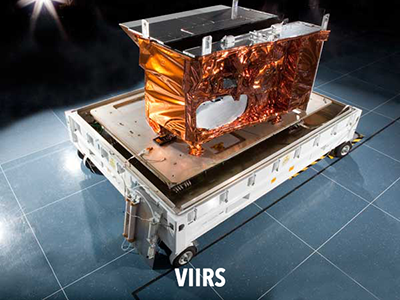 Image of the Visible Infrared Imaging Radiometer Suite (VIIRS) instrument. Credit: NASA